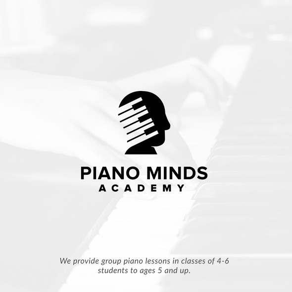 Head brand with the title 'Piano Minds'