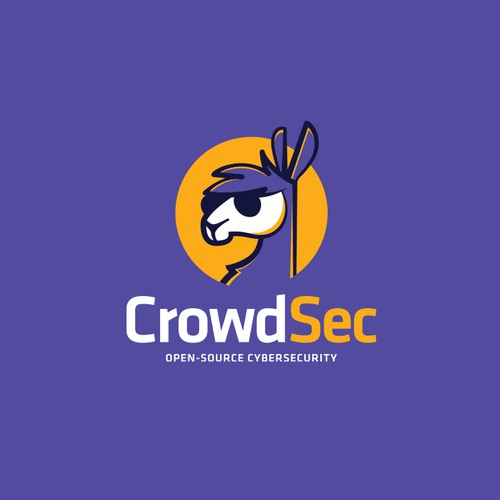 Comics design with the title 'Powerful logo for a new opensource cybersecurity startup'