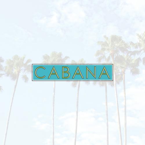 Summer logo with the title 'CABANA logo'