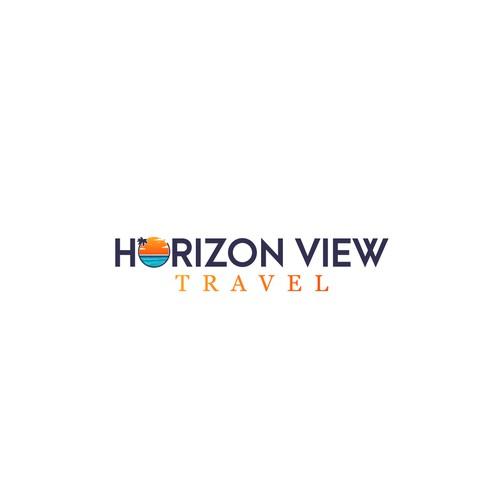 Horizon design with the title 'Horizon View Travel'