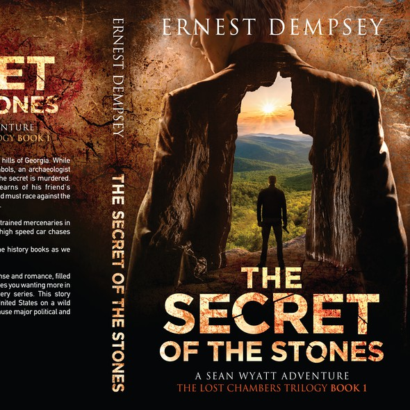 Murder mystery book cover with the title 'The Lost Chambers Trilogy Book 1'