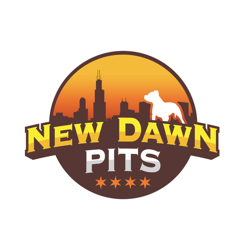 Chicago logo with the title 'New Dawn Pits Logo Design Winner'