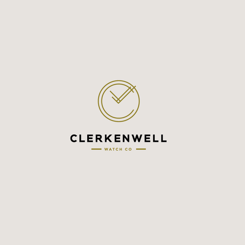 Clock logo with the title 'Clerkenwell Watch Co'
