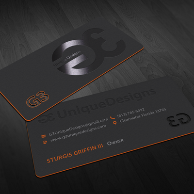Letterpress Business Cards for G3UniqueDesigns