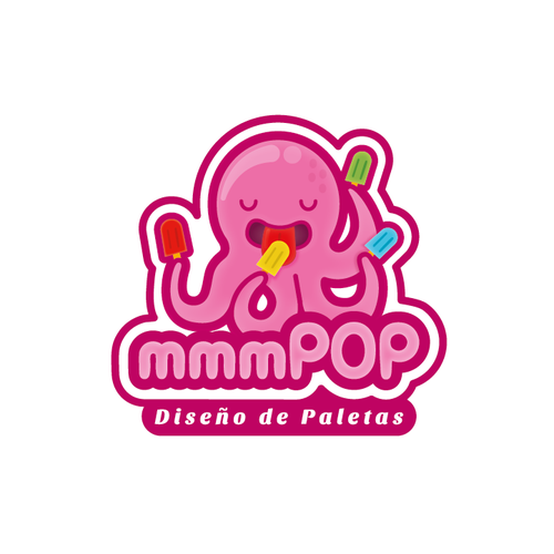 Ice logo with the title 'Octo eating ice'