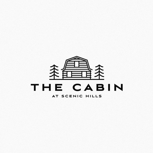 Cabin design with the title 'Minimalistic logo for a cabin vacation rental'
