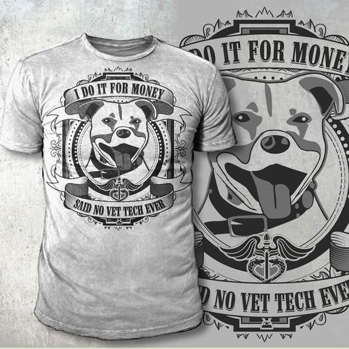 Medical t-shirt with the title 'Vet tech t-shirt'
