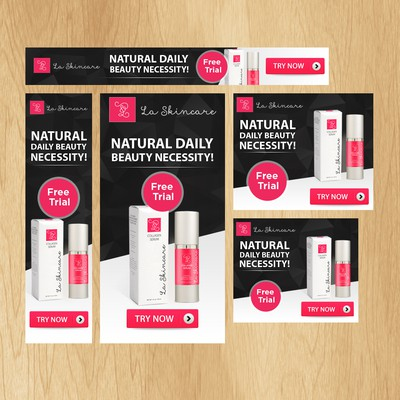 Skincare Banner Ad for Re-Targeting prospects