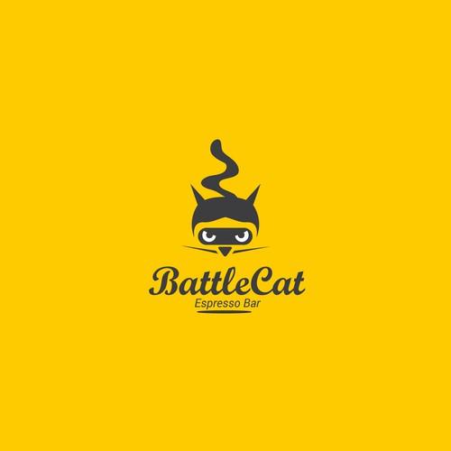 Espresso design with the title 'logo for battlecat espresso '