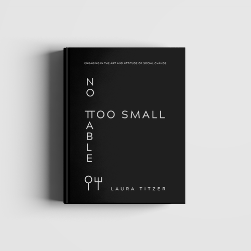 Mockup book cover with the title 'No Table Too Small - Simple and Modern Book Cover'