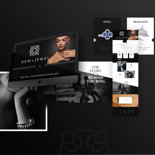 "Classic website with the title 'Web-design ""Gem+Jewel""'"