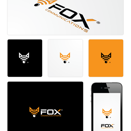 Foxy logo with the title 'New logo wanted for Fox Communications'