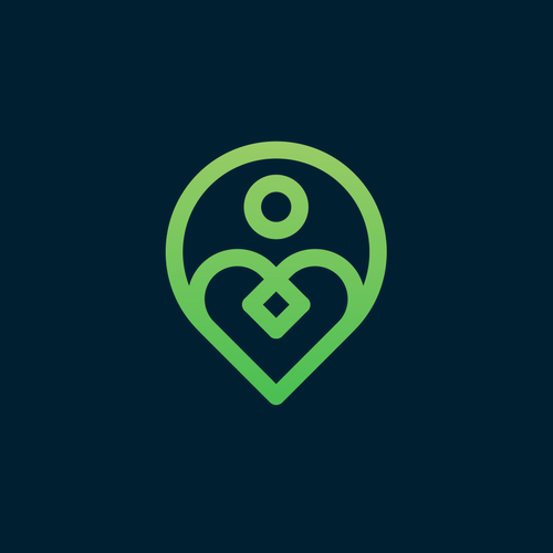 People design with the title 'heart + pin local + people'