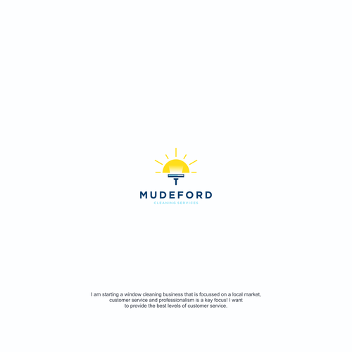 Cleaning company logo with the title 'Mudeford Cleaning Services'