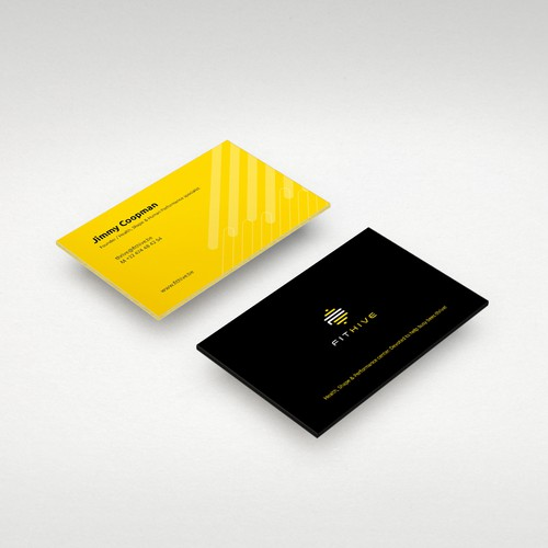 Training design with the title 'Business Card for Fitness Brand'
