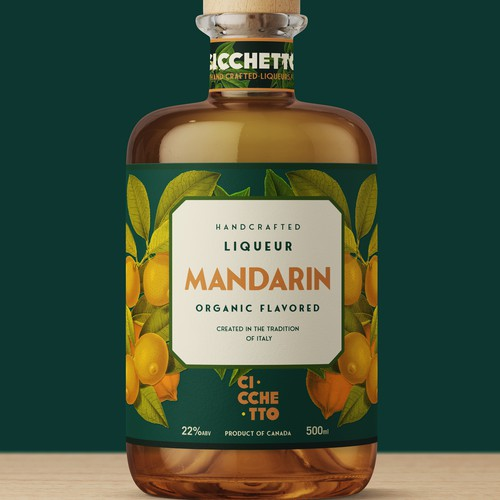 Italian design with the title 'Cicchetto liqueur'