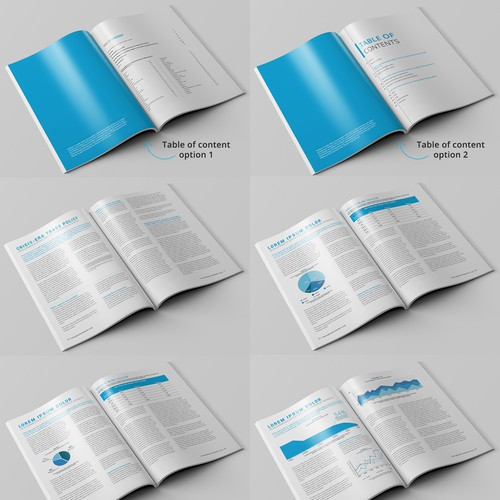Annual report design with the title 'Annual Report Template'