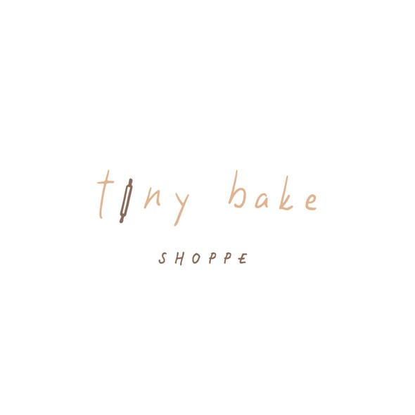 Nude design with the title 'Typography bakery logo'