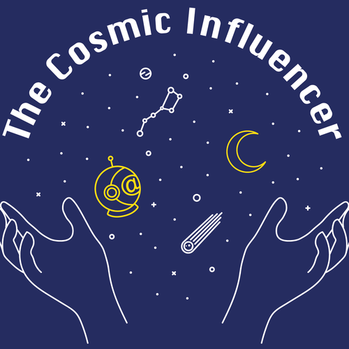Universe t-shirt with the title 'The Cosmic Influencer T-shirt'