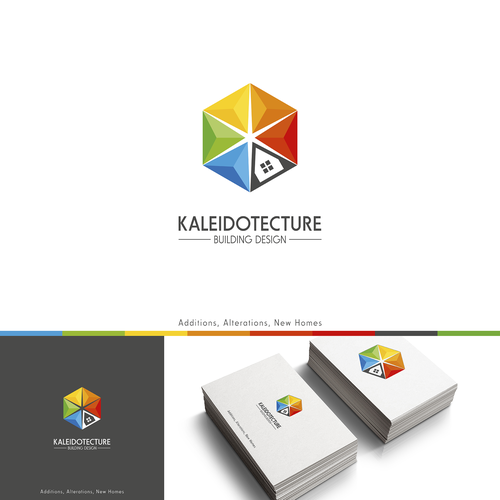Kaleidoscope design with the title 'Logo Design - Kaleidotecture '