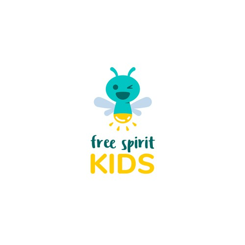 Logo with the title 'free spirit KIDS'