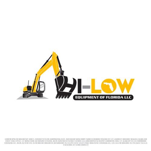 Excavator logo with the title 'Hi-Low Equipment of Florida LLC'