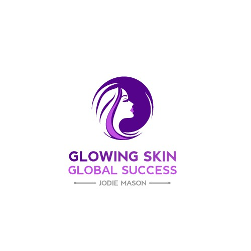 Woman logo with the title 'Glowing Skin'