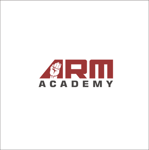 Softball logo with the title 'Arm academy'