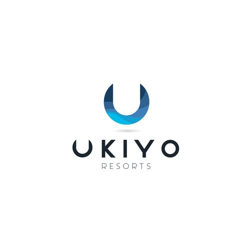 Travel brand with the title 'UKIYO Resorts'