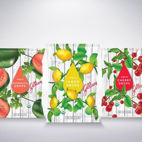 Candy packaging with the title 'Candy packaging design'