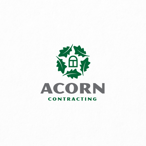 Bright star logo with the title 'Acorn Contracting'
