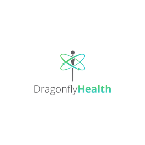 Dragonfly design with the title 'Dragonfly Health Logo'