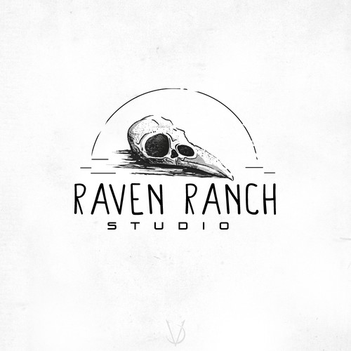 Crow logo with the title 'Raven Ranch'