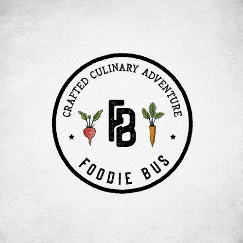 Carrot design with the title 'Foodie Bus'