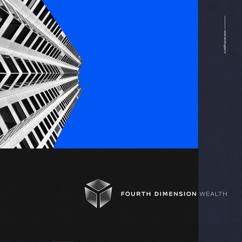 Business brand with the title 'Spatial mark for Fourth Dimension Wealth'