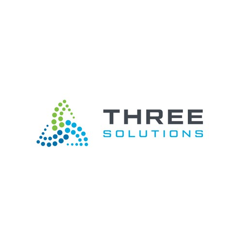 Powerful brand with the title 'Logo Designs for Three Solutions '
