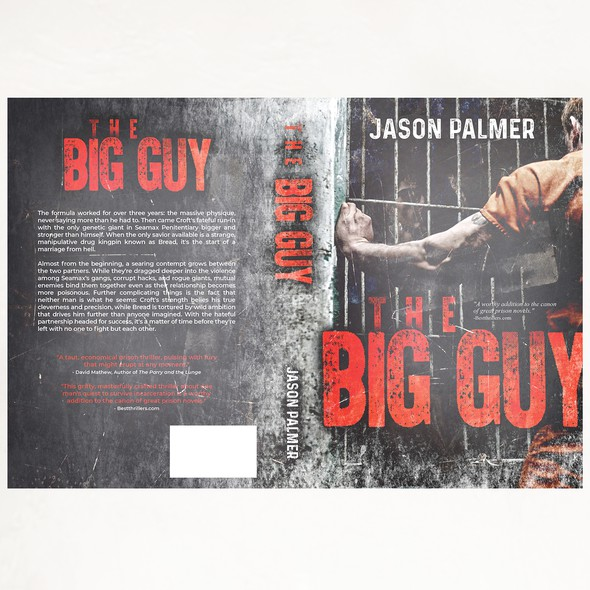 Prison design with the title 'Book cover for The Big Guy'