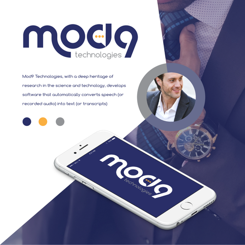Speech design with the title 'mod9'