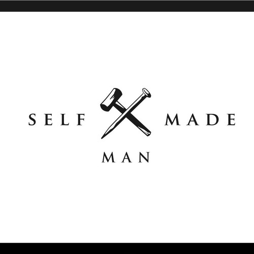Hammer design with the title 'Logo for SelfMadeMan lifestyle brand'