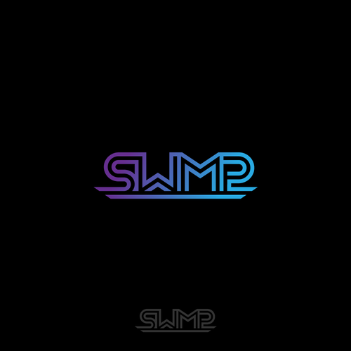 Music production logo with the title 'Edgy logo for SWMP'