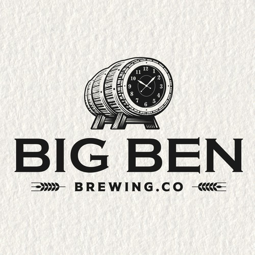 Clock design with the title 'Big Ben Brewing Co'