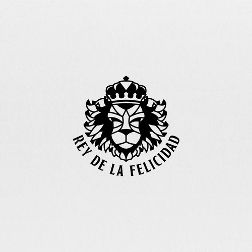 King design with the title 'King Lion logo design for clothing brand '