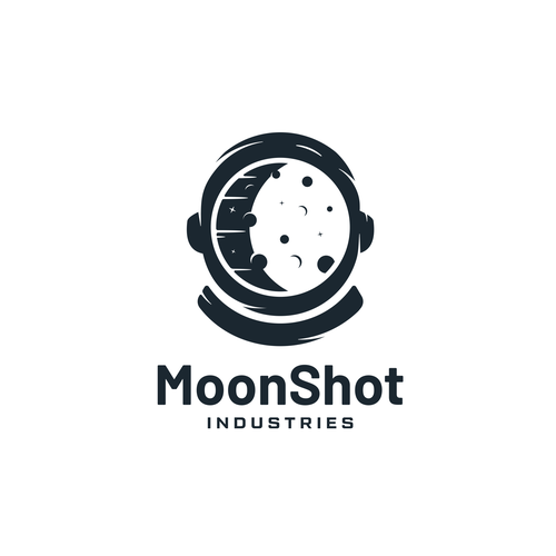 Outerspace design with the title 'MoonShot Industries'