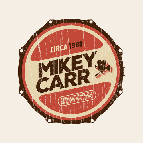 Sticker logo with the title '80's logo for Mikey'