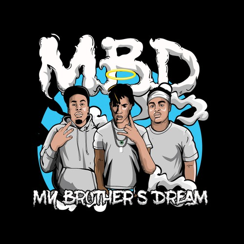 Vector design with the title 'Rap Logo - MBD My Brother's Dream'