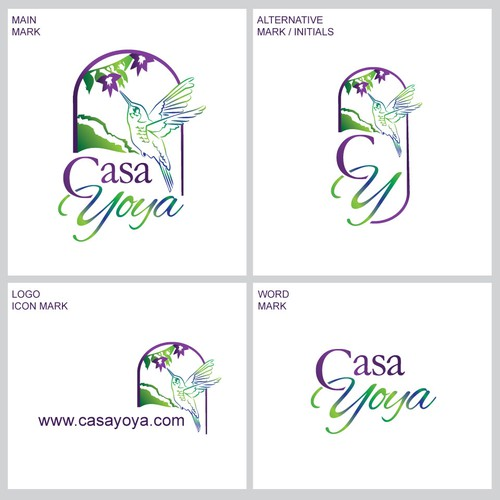 Accommodation logo with the title 'Casa Yoya'
