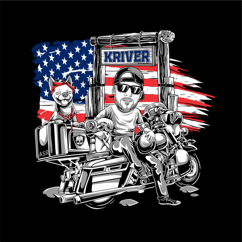 Patriotic t-shirt with the title 'scooter tshirt design'