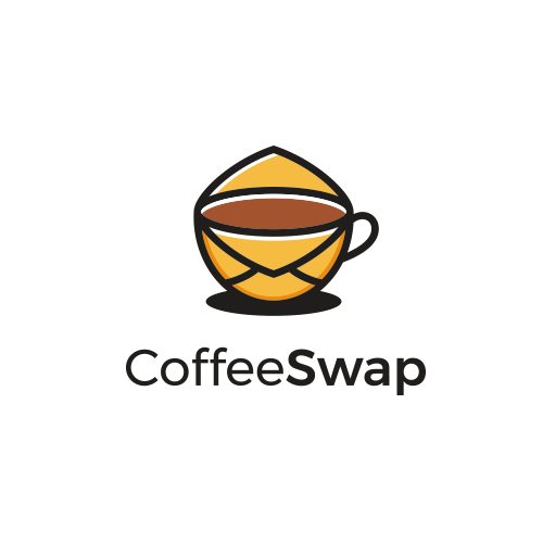 Mail design with the title 'Logo Designs For CoffeeSwap'