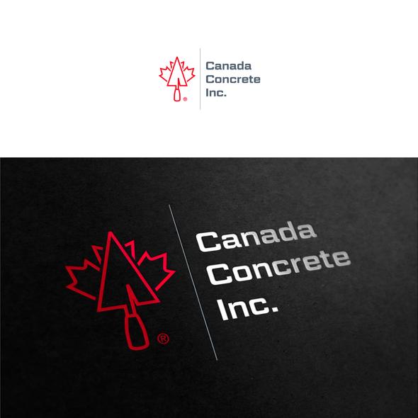 Concrete design with the title 'Canada Concrete Inc.'