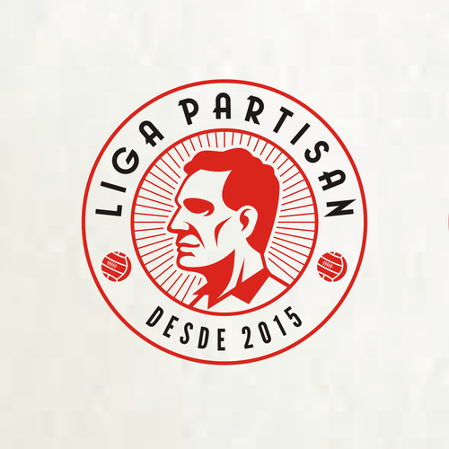 Portrait logo with the title 'Create a logo for the new world of football: Liga Partisan'